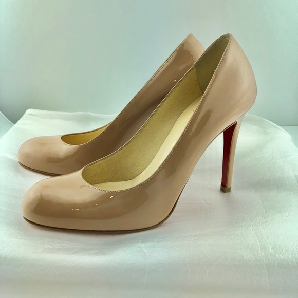 ea64677bd5a1 Christian Louboutin Shoes - Christian Louboutin Simple Nude Pump 100mm  Patent